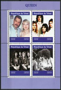 Original Tchad 2019 Cto Queen Freddie Mercury 4 V M/s Music Célébrités Timbres-afficher Le Titre D'origine Bas Prix