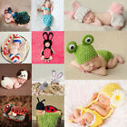 Newborn Baby Infant Boys Girls Knit Crochet Costume Photography Prop Hat Outfits
