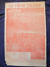 Partition Le rêve passe Helmer Krier Music Sheet