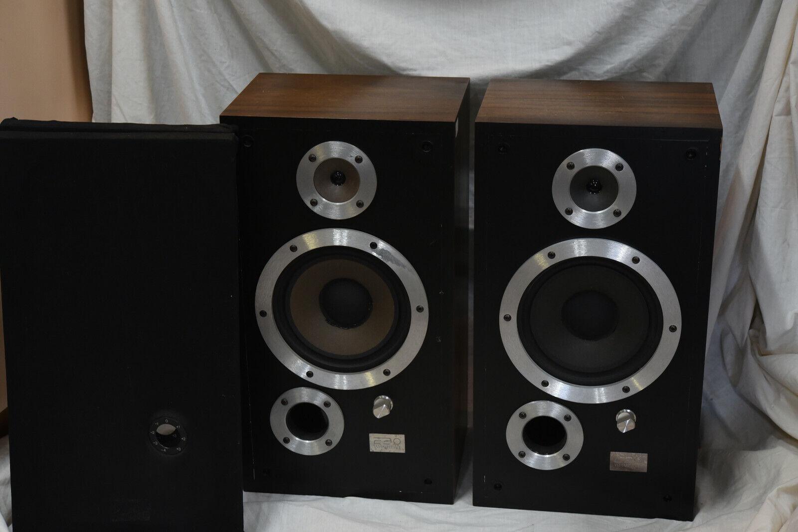 Wharfedale E20 E Twenty Large Bookshelf Speakers Vintage For