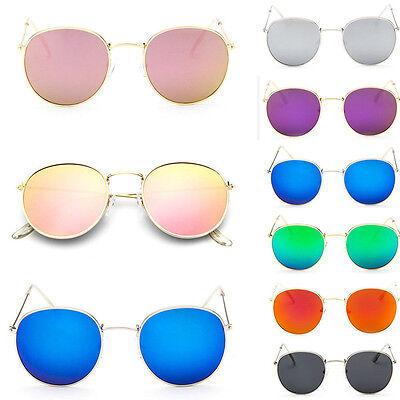 Fashion Oversized Round Sunglasses Men Women/'s Vintage Retro Mirror Glasses Gift
