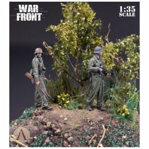 1-35-Resin-Figure-Model-Kit-World-War-II-German-Normandy-2-figures-Unpainted