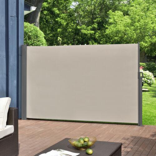 /& Windschutz Seitenmarkise 160x300cm beige Sichtschutz Markise Sonnen pro.tec