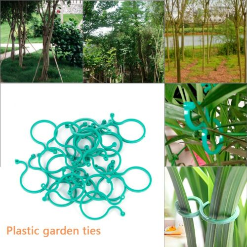 20Pcs Garden Vines Tied Buckle Fixed Lashing Hook Plant Grafting Clips Fastener
