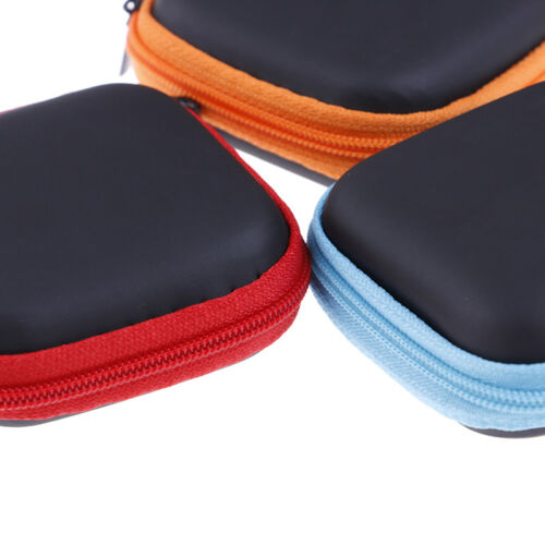 Pocket Hard Case Storage Bag For Headphone Earphone Earbuds Memory Card LE