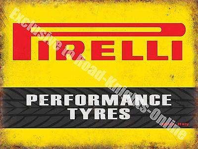 Performance Tyres Motorsport Motor Racing Vintage Garage Large Metal Tin Sign