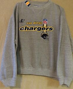 finest selection f53fc 3c920 Details about NFL Pro Line~ San Diego Chargers~ Sweatshirt~Men's Large~Gray  Stripped