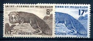 ST PIERRE et MIQUELON 1952 Yvert 345-46 ** POSTFRISCH TADELLOS 13€(F1465