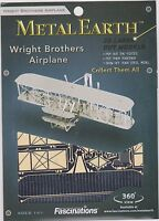 Metal Works 3D Laser Cut Metal Miniature Model Kit Wright Brothers Plane Toys