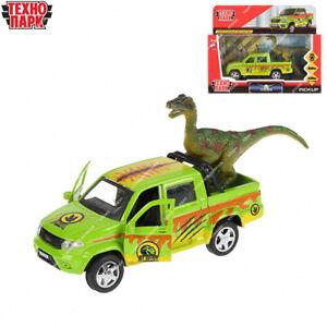 Diecast véhicules SAFARI UAZ PICKUP avec un dinosaure russe jouet voitures 12 cm