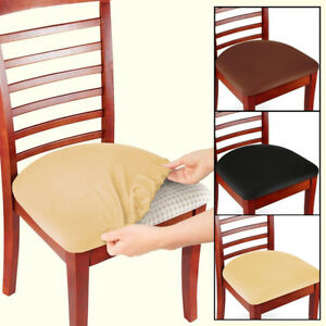 Details about 2/4/6 Pcs Removable Elastic Stretch Slipcovers Dining Spandex  Chair Seat Cover
