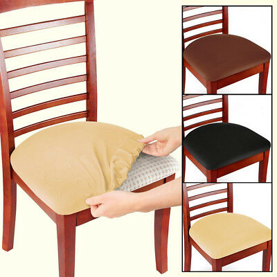 2 4 6 Pcs Removable Elastic Stretch Slipcovers Dining Spandex Chair Seat Cover Ebay