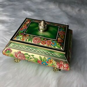 Vintage-Blue-Bird-Confectionery-Candy-Biscuit-Tin-Box-amp-Lid-Made-in-England