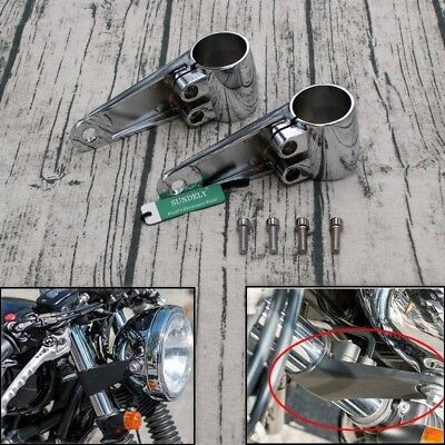 Motorcycle Accessory Headlight Mount Bracket Racer Fork Tube Chopper H
