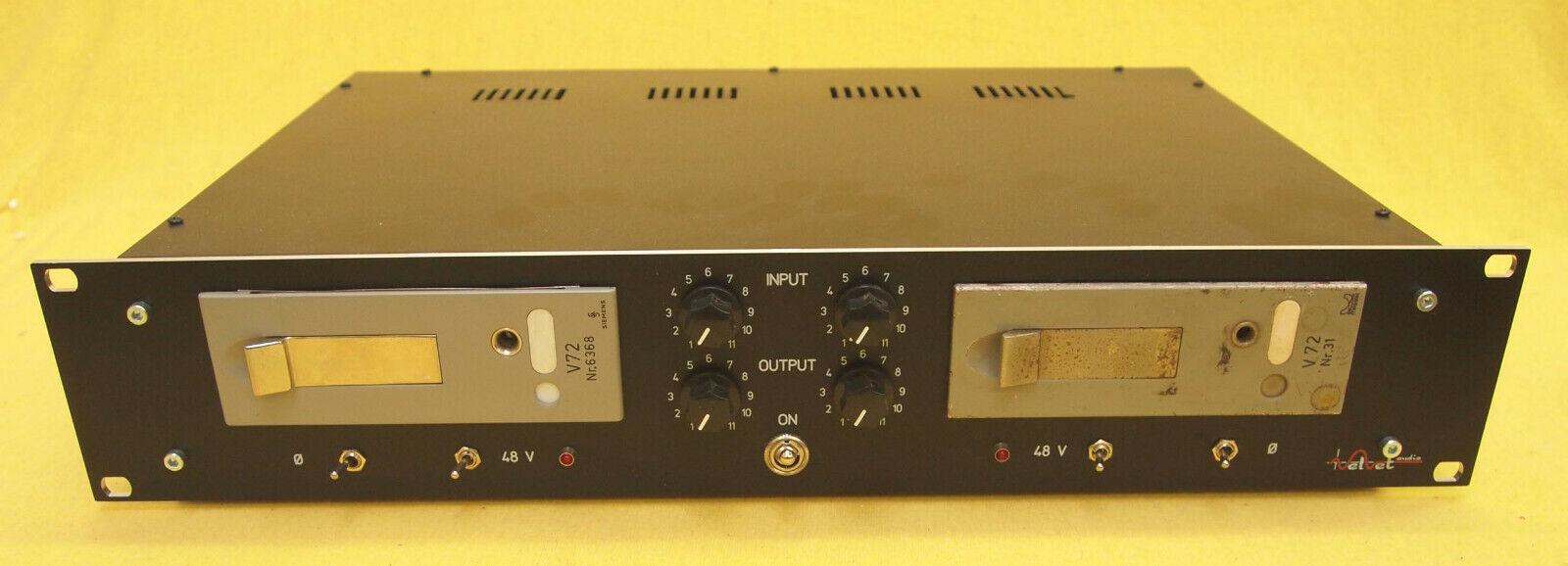 Siemens Telefunken V72 Dual Micpre Rack   ramped 48V adjustable PAD f. In & Out
