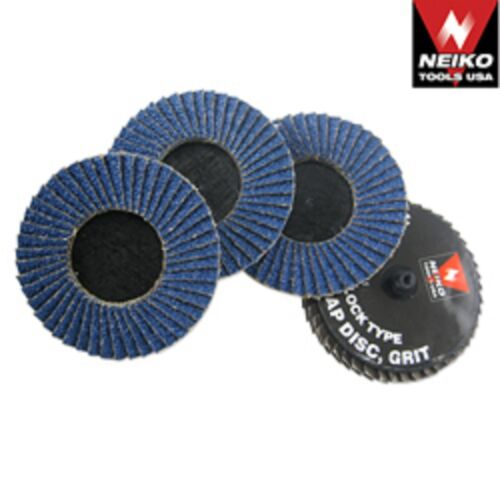 "10 PC NEIKO TOOLS USA 3/"" ROLOC SANDING FLAP DISCS ZIRCONIA 100 GRIT W// MANDREL"