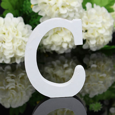 1PC Free Standing Wood Wooden Letters Alphabet Bridal Wedding Party Table Decor