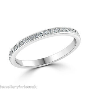 18Carat-White-Gold-Round-Diamond-Full-Eternity-Wedding-Band-0-40cts-2-6-Wide-GSI