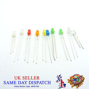 3mm LED Light Emitter Clear Diffused Milky Flashing Diode Ultra Bright