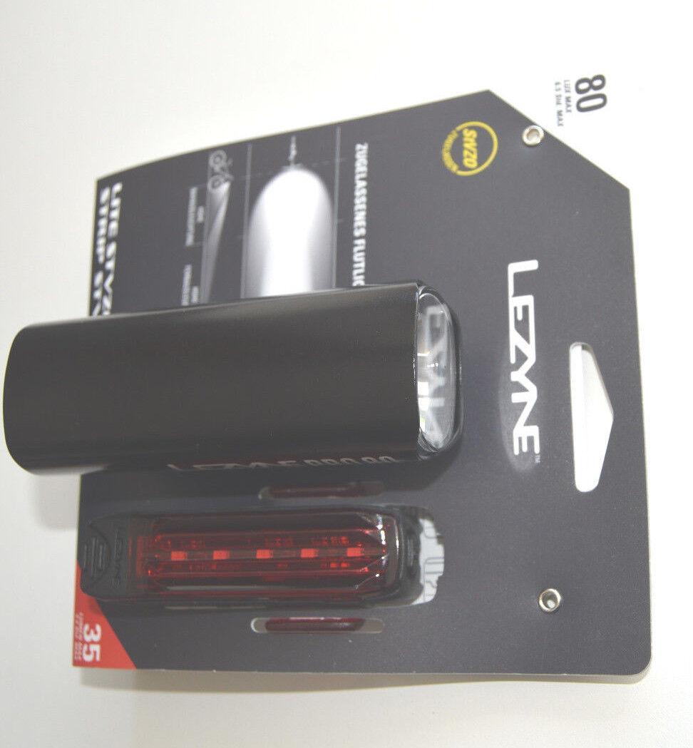 Lezyne Beleuchtungsset Lite Pro+Strip DR schwarz-glänzend Y11