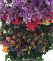 144 Bush Silk Flowers Wholesale Christmas Fall Summer Mix Long Stem Bush Garland