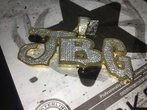 925-Sterling-Silver-Custom-Made-To-Order-JBG-Pendant-Charm