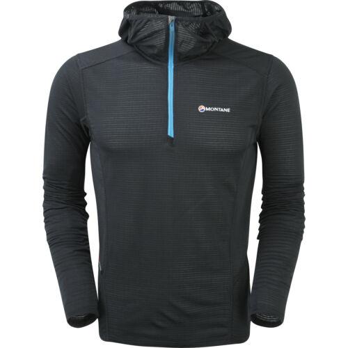 Montane Allez Micro Hoodie Mens Base Layer Top Black All Sizes