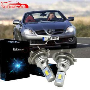 Für Mercedes Slk R170 2x H7 Led Scheinwerfer 110w Weiß 6000k Vs Xenon Halogen Ebay