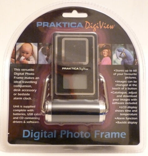 New Praktica Digiview Digital Photo Frame and Alam Clock *UK STOCK*