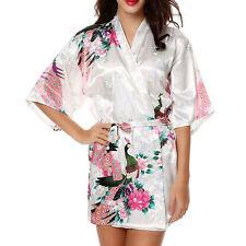 226c3c118 item 1 Womens Silk Satin Short Robe Dressing Gown Wedding Bridesmaid  Sleepwear Kimono -Womens Silk Satin Short Robe Dressing Gown Wedding  Bridesmaid ...
