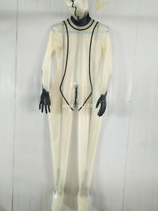 100-latex-new-Rubber-Bodysuit-Mask-Catsuit-Masquerade-Transparent-Size-XXS-XXL