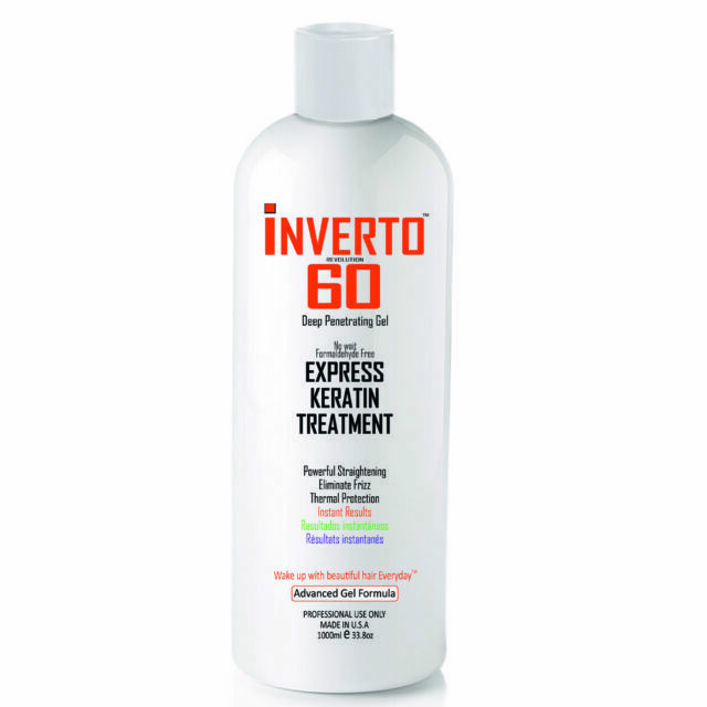 Inverto 60 Brazilian Blowout Keratin Hair Treatment 1000ml Formaldehyde For Sale Online Ebay