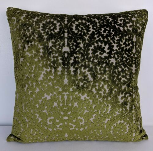 Gorgeous Indiene Olive Fabric Cushion Cover from the Samira Collection
