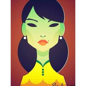 The Green Lady by Stanley Chow - Signed and stamped archival Giclee print