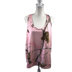 Under-Armour-Women-s-Realtree-Semi-Fitted-Tank-Top-Heat-Gear-Size-2XL-Pink