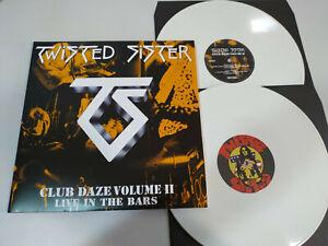 "Twisted Sister Club Daze Volume II White Vinyl Edition 2 X LP vinyl 12 "" VG+"