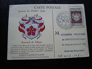 FRANCE-carte-1er-jour-9-12-1944-journee-du-timbre-st-etienne-cy57-french