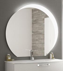 Specchiera specchio bagno filo lucido design con fascia led superiore ebay - Specchio bagno prezzi ...