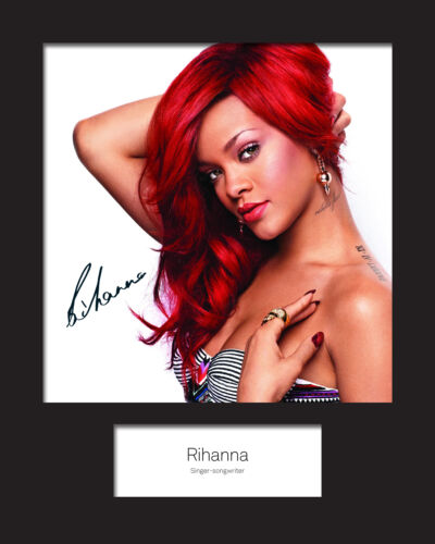 FREE DELIVERY RIHANNA #1 Signed Photo Print 10x8 Mounted Photo Print