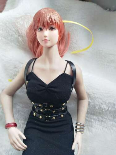 "Custom 1//6th Female Clothing Accessory Black Punk belt For 12/"" Phicen HT Figure"