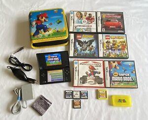Nintendo-Dsi-Black-Bundle-w-11-Games-Chargers-amp-Carry-Case-3-MARIO-GAMES