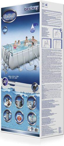 Bestway 56441 Frame Pool Power Steel 404x201x100cm Kartuschenfilter Leiter NEU