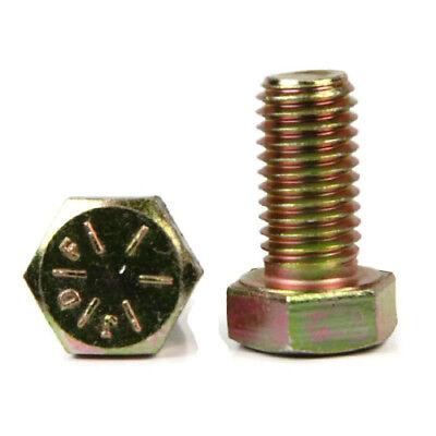 Newport Fasteners 7//16 inch x 1 inch Hex Cap Screw Grade 8 Zinc Yellow Plated Steel 7//16-20 x 1 Hex Bolt//Fine Thread//Fully Threaded Quantity: 100 pcs