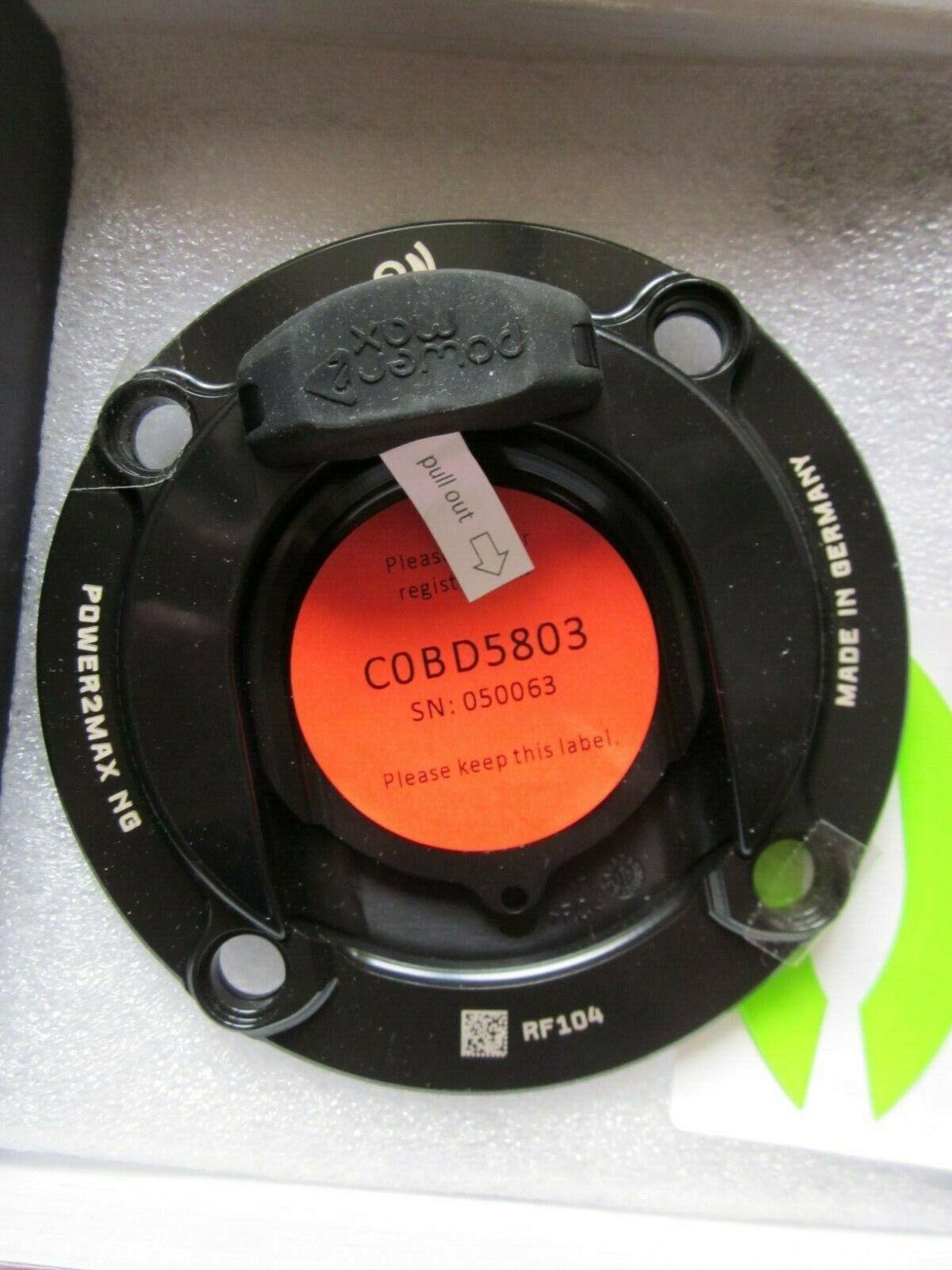 Power2Max NG eco Power Meter zur Leistungsmessung für Rennräder 050063 schwarz