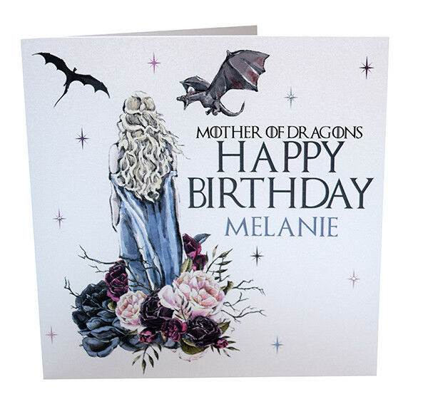 Personalised Handmade Game Of Thrones Birthday Card Son Daughter