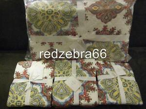 Pottery Barn Adina King Quilt And 3 Standard Shams Set New