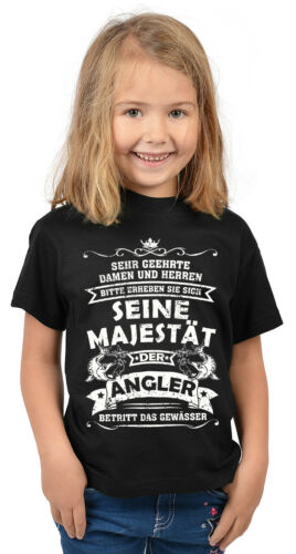 Angelsport Fischen Kindershirt Angeln lustiges Angler Sprüche T-Shirt Kinder