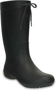 titre d'origine Détails Noir Femme sur Bottes Crocs Pluie Wellington freesail afficher Imperméable le 203541 Ibv76Yfmgy