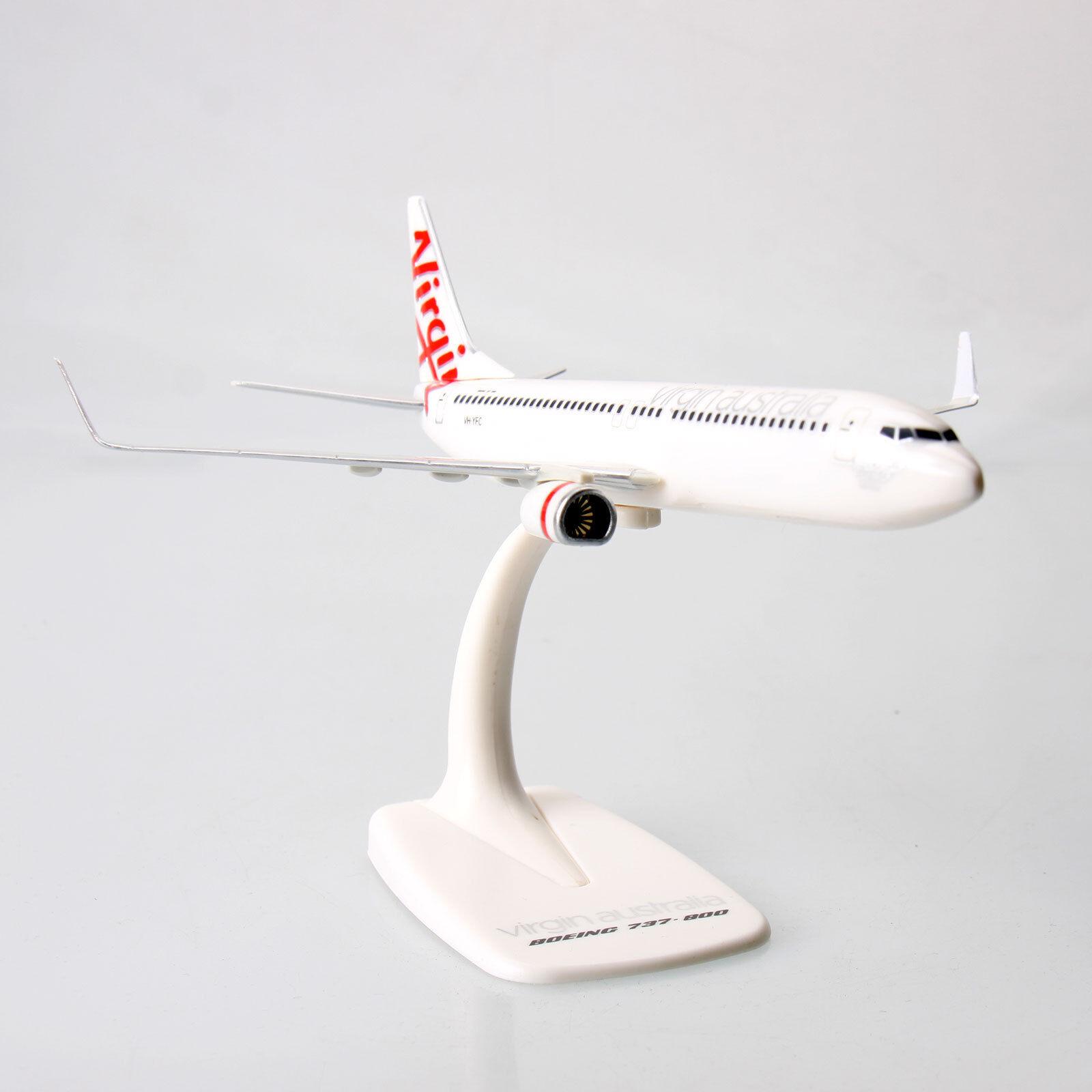 Virgin Australia Boeing B737-800 1 200 Scale Solid Plastic 737 Model Aircraft