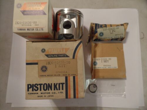 NOS OEM YAMAHA PISTON KIT W RINGS PIN CIRCLIPS 2ND .50 YZ125 YZ 125 78-79-80
